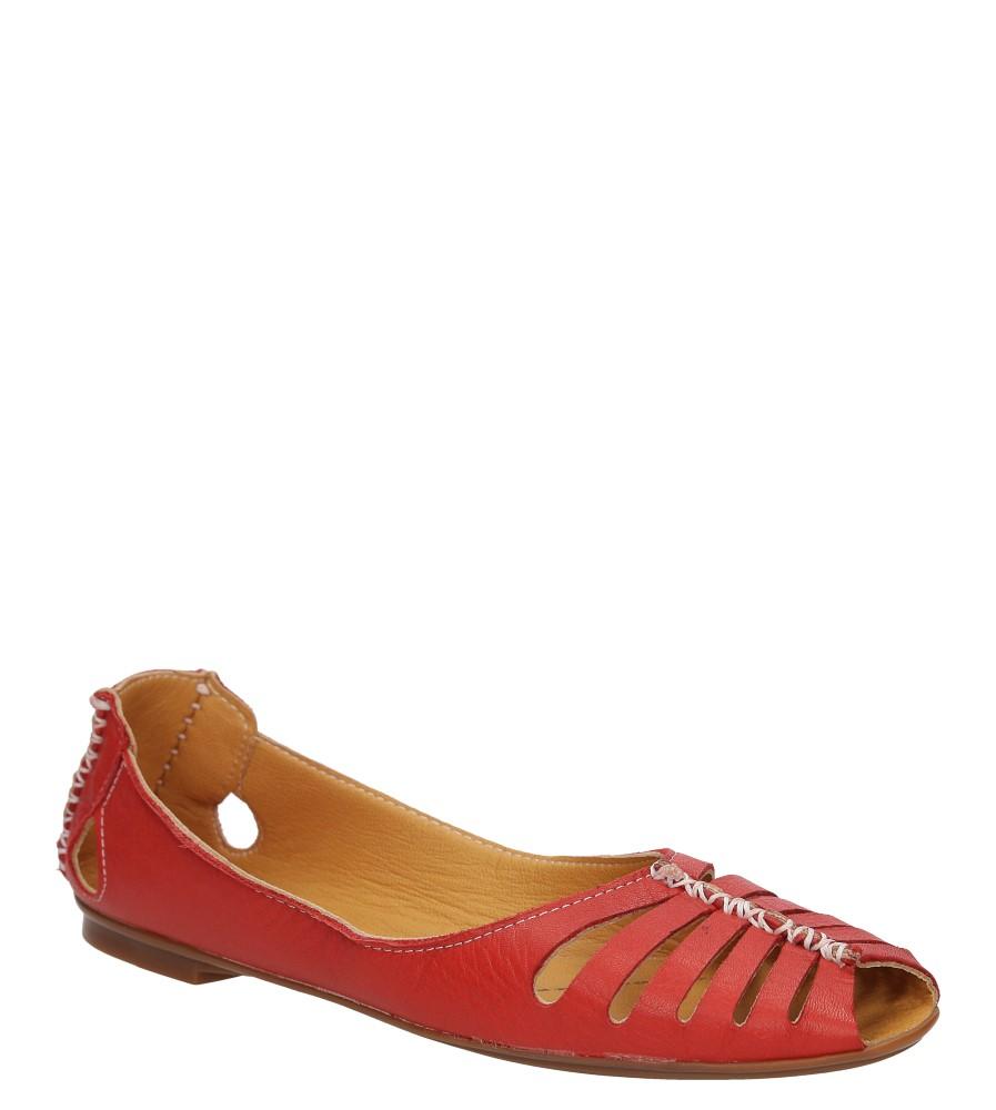 Damskie BALERINY LANQIER 38C11 czerwony;;