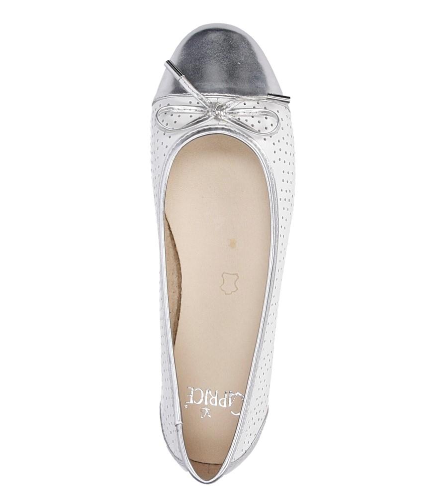 Damskie BALERINY CAPRICE 9-22105-26 biały;srebrny;