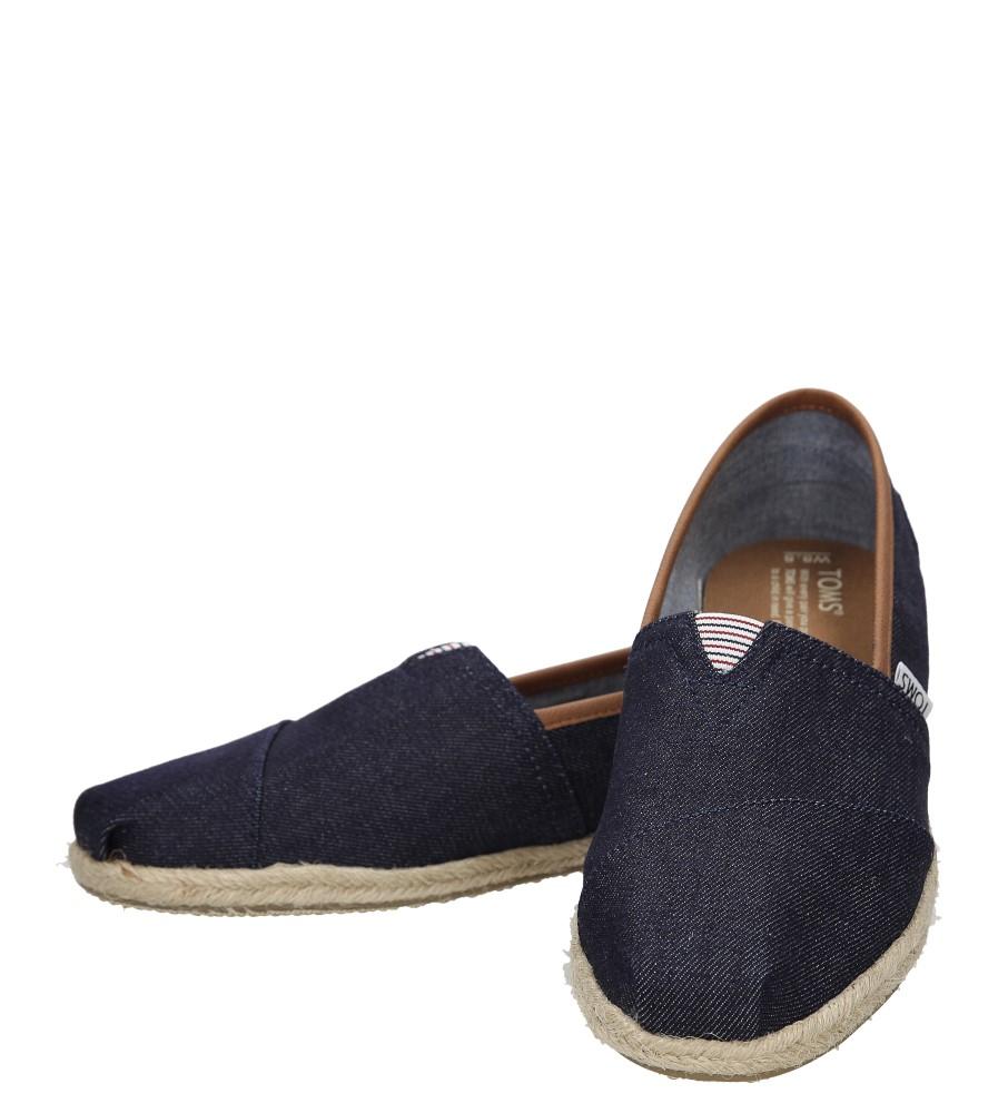 Damskie TOMSY TOMS CLASSIC 10008005 niebieski;;
