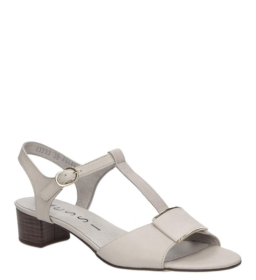 Sandały skórzane na słupku Nessi 43203 producent Nessi