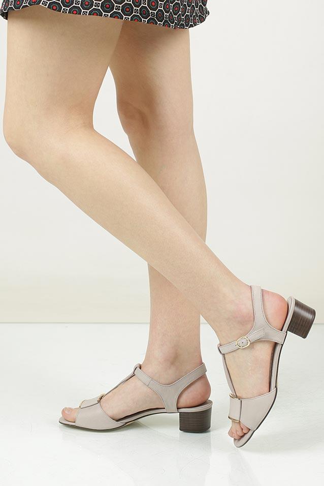 Sandały skórzane na słupku Nessi 43203