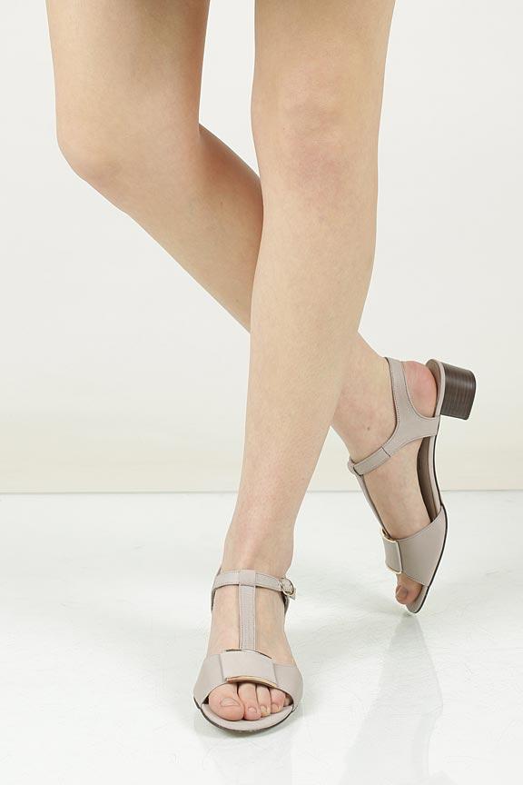 Sandały skórzane na słupku Nessi 43203 wkladka skóra