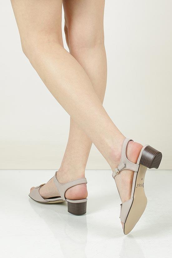 Sandały skórzane na słupku Nessi 43203 material_obcasa wysokogatunkowe tworzywo