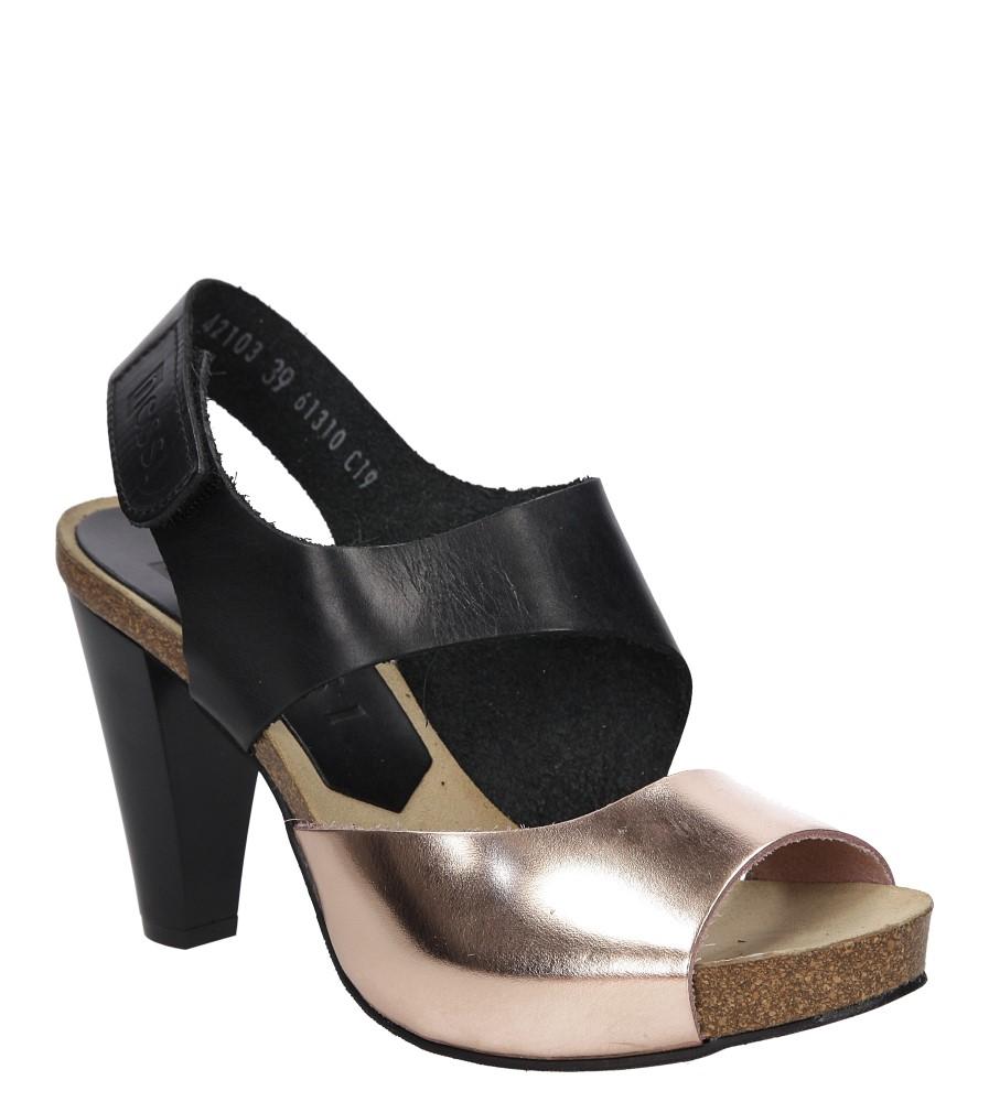 Sandały skórzane na słupku Nessi 42103 producent Nessi
