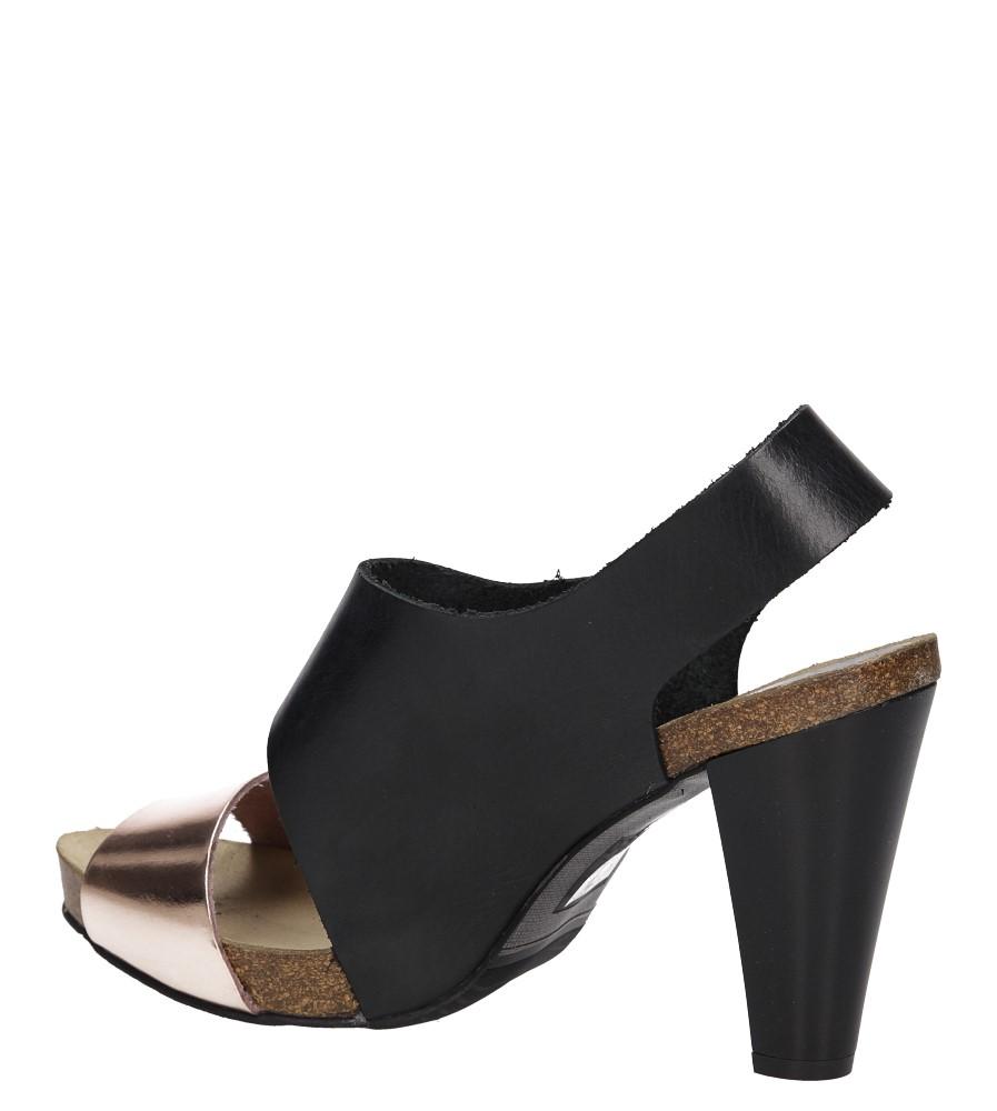 Sandały skórzane na słupku Nessi 42103 wysokosc_obcasa 9 cm