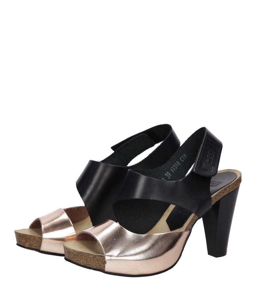 Sandały skórzane na słupku Nessi 42103 wys_calkowita_buta 16 cm