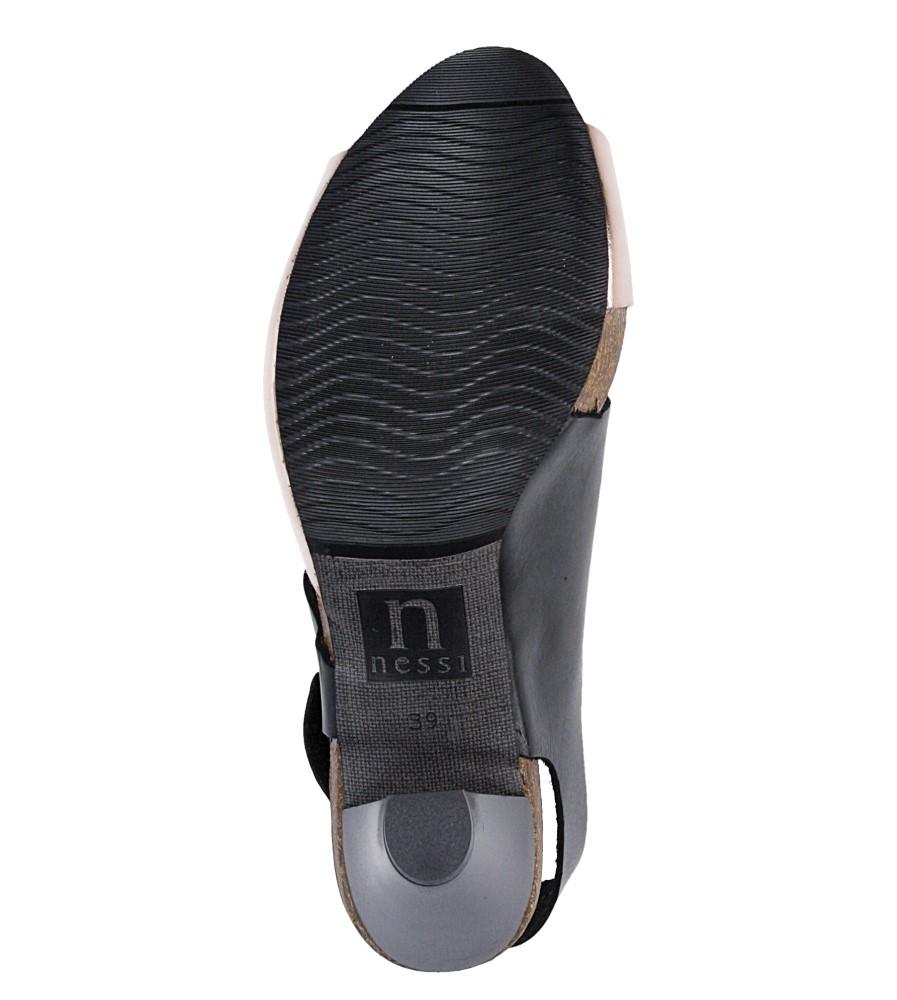 Sandały skórzane na słupku Nessi 42103 wkladka skóra