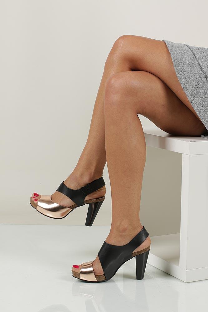 Sandały skórzane na słupku Nessi 42103 material_obcasa wysokogatunkowe tworzywo