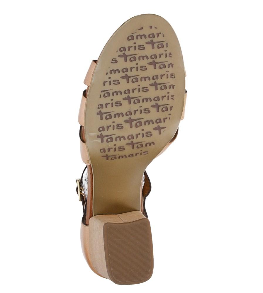 Damskie SANDAŁY TAMARIS 1-28349-26 brązowy;;