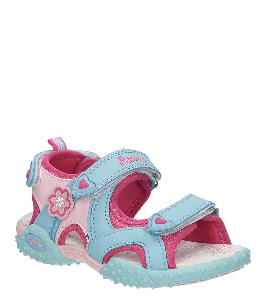Dziecięce SANDAŁY AMERICAN RL1401 niebieski;różowy;
