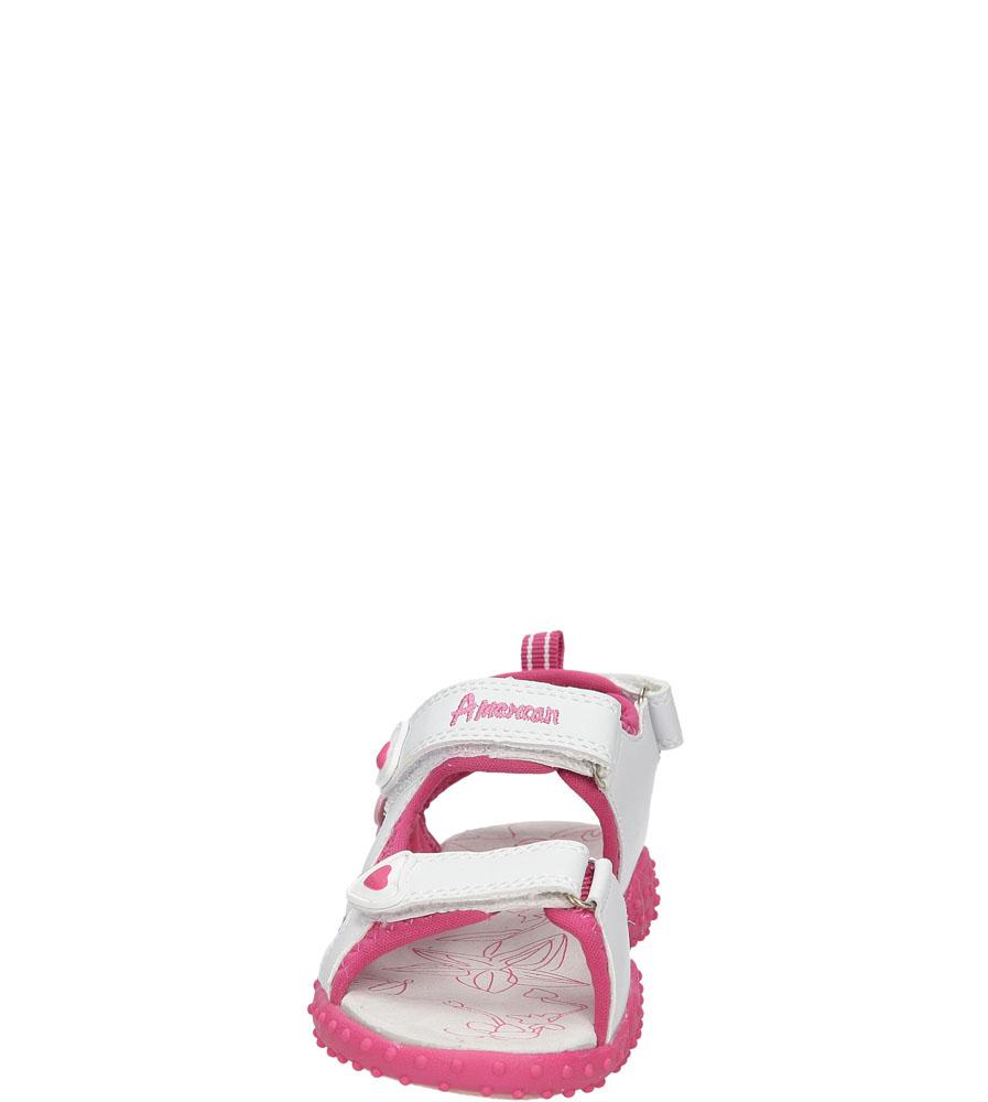 Dziecięce SANDAŁY AMERICAN RL1401 biały;różowy;