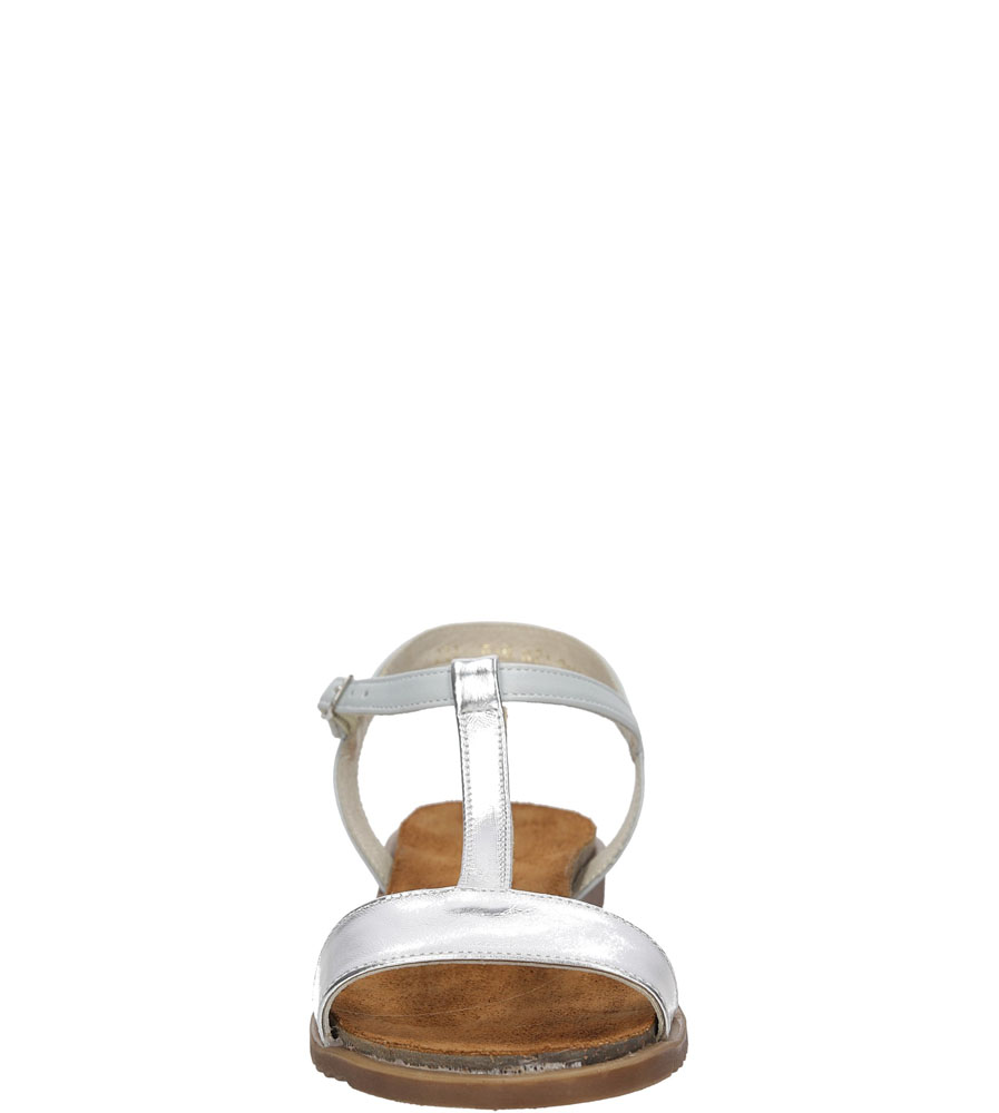 Sandały Casu 3943 kolor srebrny