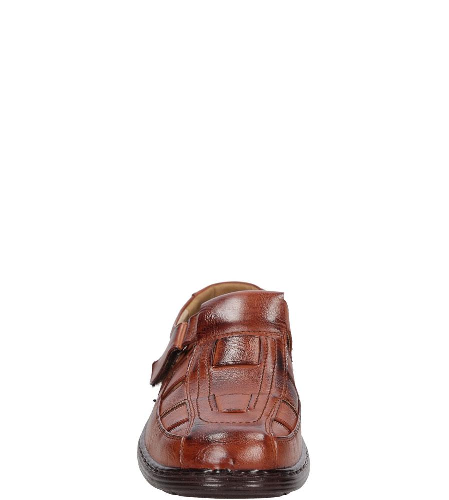 Męskie PÓŁBUTY CASU L1553 brązowy;;