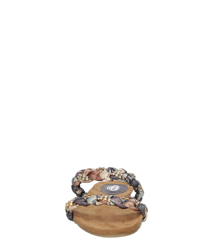 Damskie KLAPKI ROCK SPRING FLORA brązowy;beżowy;multikolor