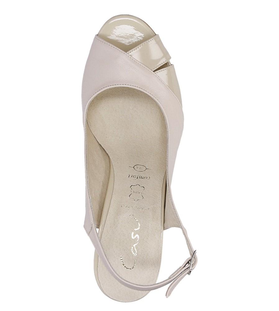Sandały na słupku Casu 3937 wysokosc_obcasa 7 cm
