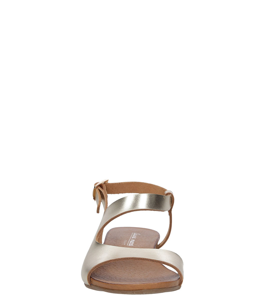 Sandały skórzane Casu 1116 kolor złoty