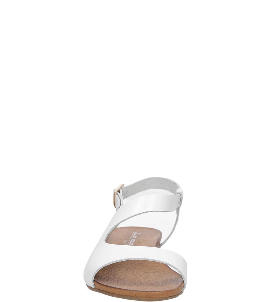 Sandały skórzane Casu 1116 kolor biały