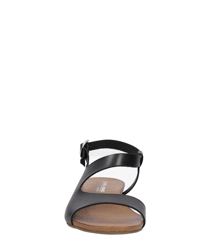 Sandały skórzane Casu 1116 kolor czarny