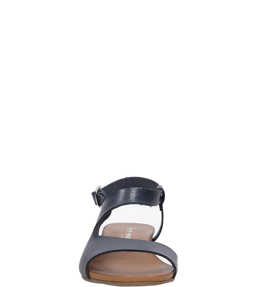 Sandały skórzane Casu 1116 kolor granatowy