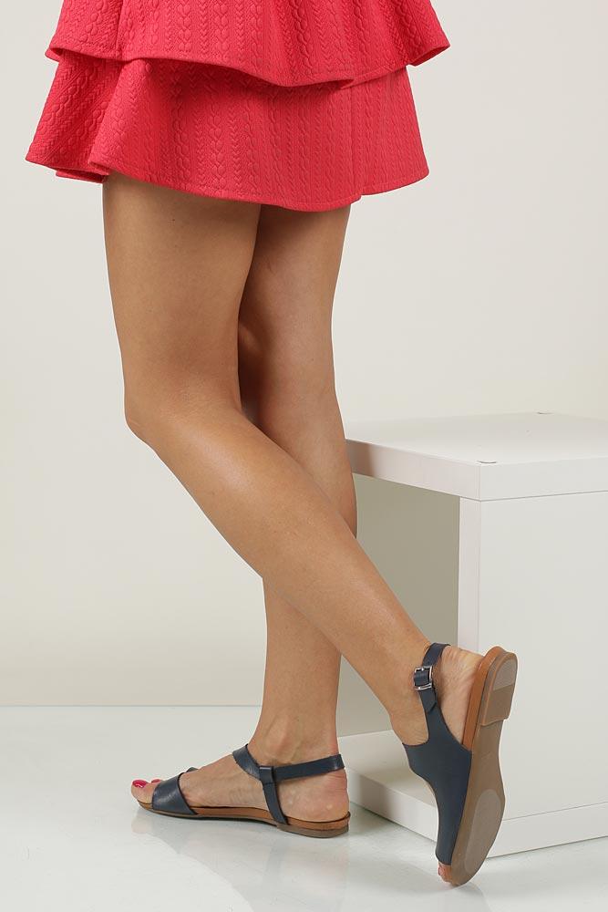 Sandały skórzane Casu 1116 wkladka skóra