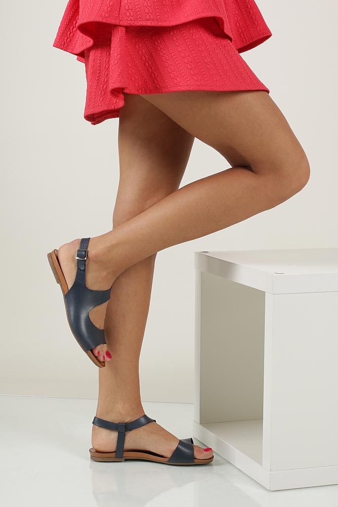Sandały skórzane Casu 1116 material_obcasa wysokogatunkowe tworzywo