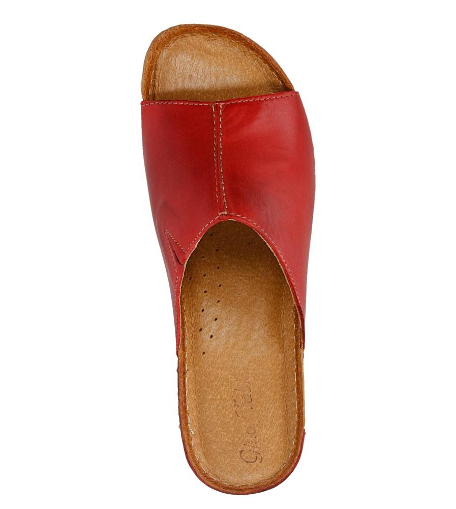 Damskie KLAPKI GINO FABIANI 813 czerwony;;