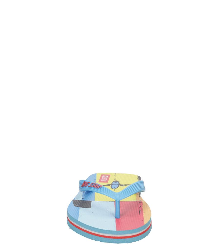Męskie JAPONKI BIG STAR U17420 niebieski;żółty;