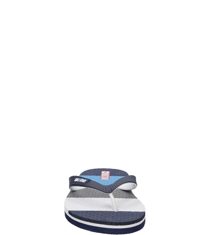 Męskie JAPONKI BIG STAR U17421 niebieski;niebieski;biały