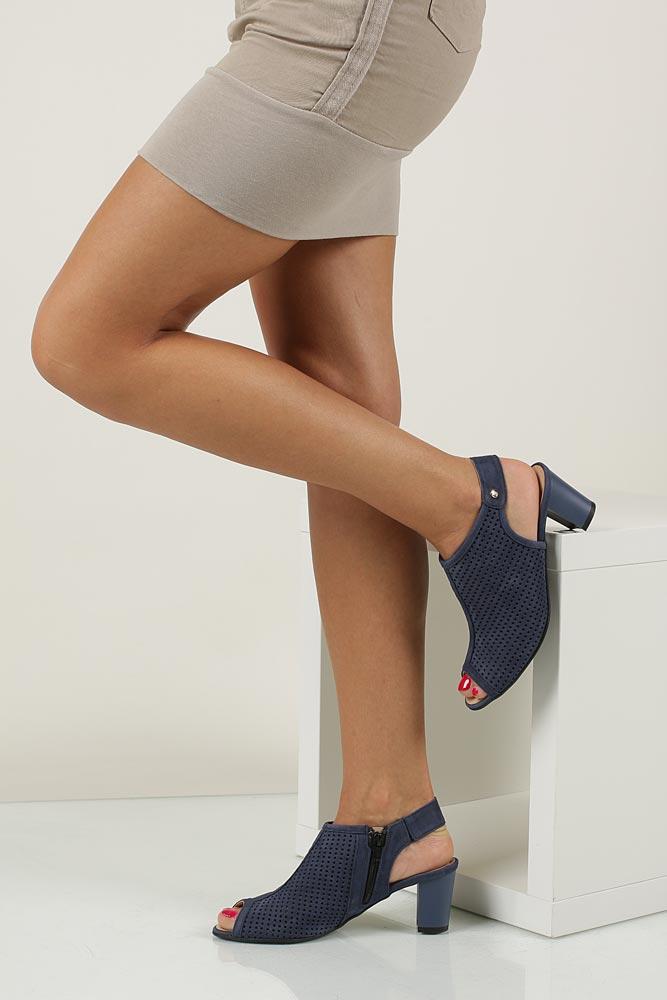 Damskie Sandały ażurowe Casu 398 niebieski;;