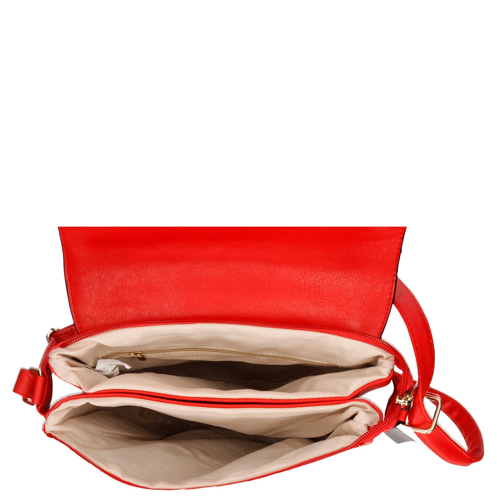TOREBKA LISTONOSZKA KJ567 kolor czerwony