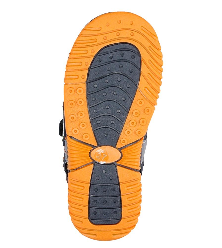 Dziecięce SANDAŁY AMERICAN 86585 niebieski;pomarańczowy;