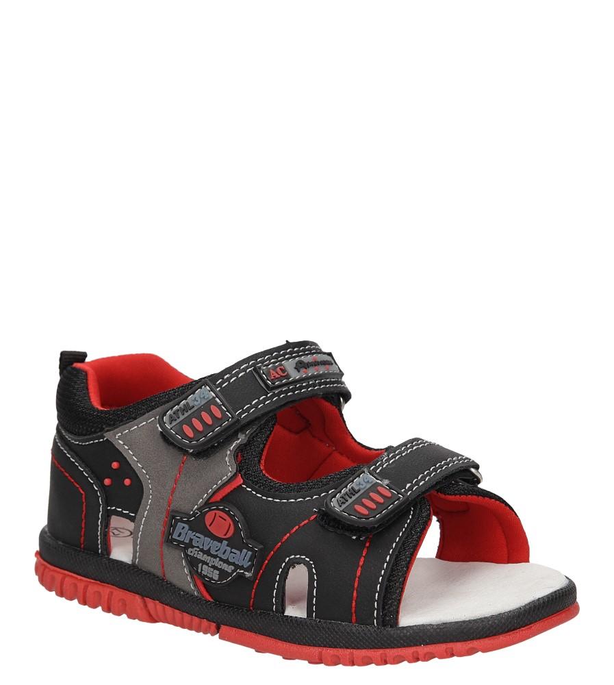 Dziecięce SANDAŁY AMERICAN 86585 czarny;czerwony;