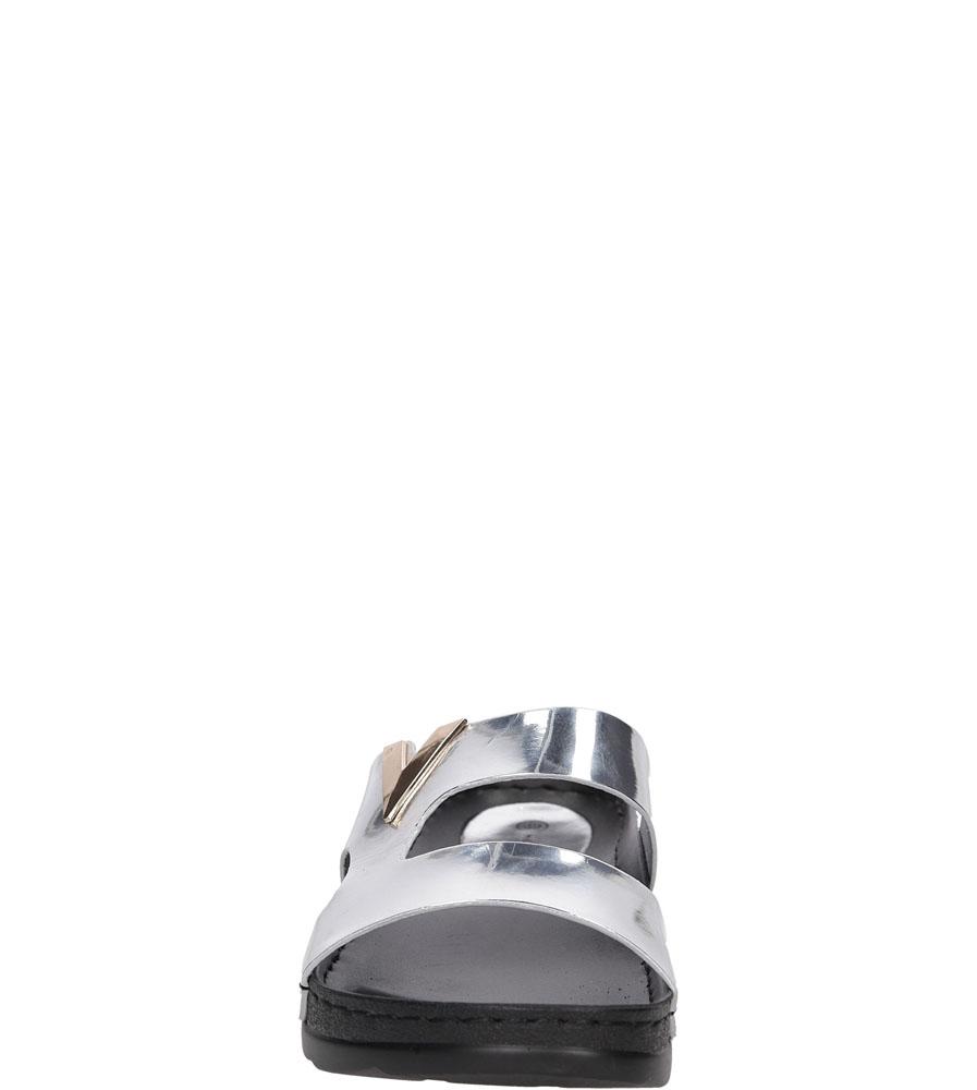 Damskie KLAPKI CASU 7S-GH86085E srebrny;;