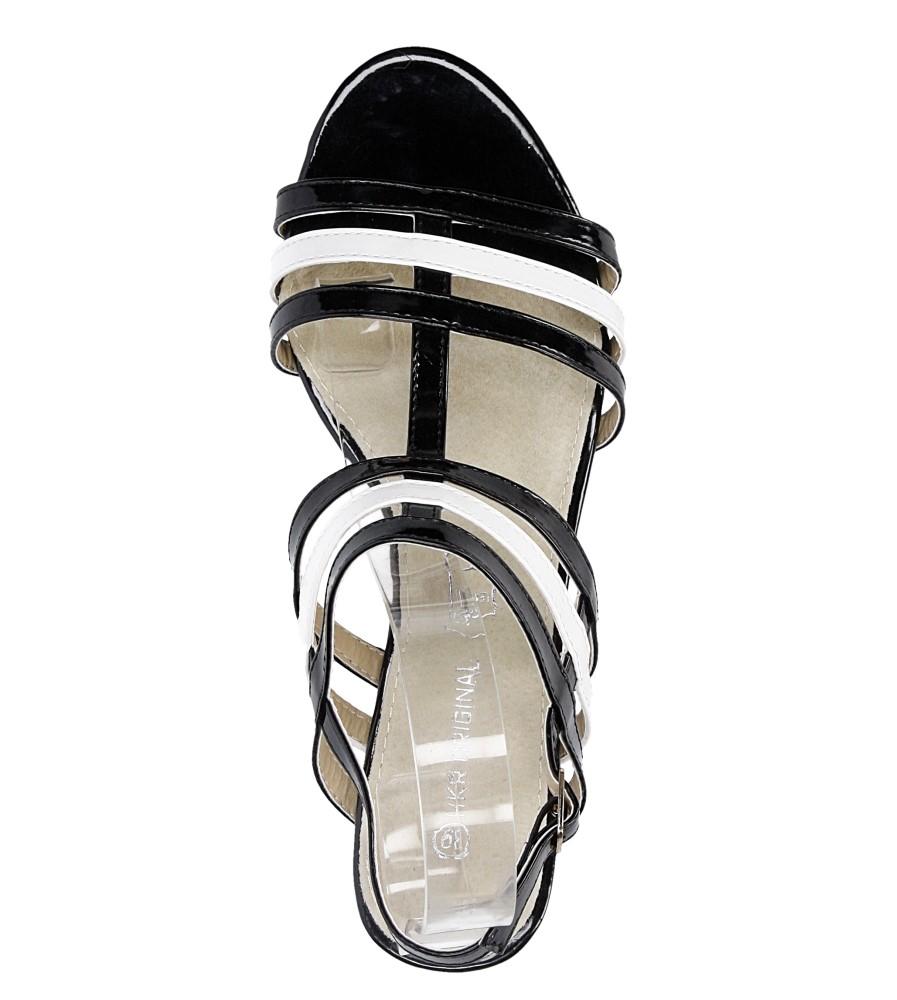 Damskie SANDALY CASU 7S-GH85465 czarny;biały;