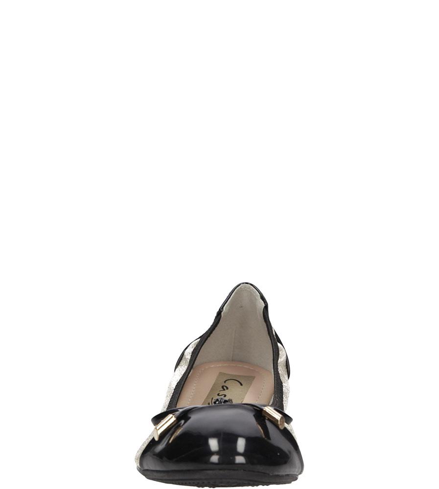 Damskie BALERIN CASU F168 złoty;czarny;