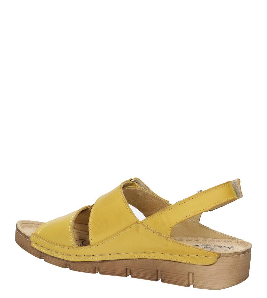 Damskie SANDAŁY ŁUKBUT 05540-3-L żółty;;