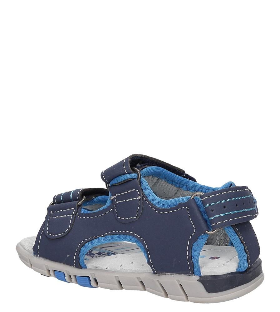 Sandały na rzepy Casu A1299-22 kolor granatowy, niebieski