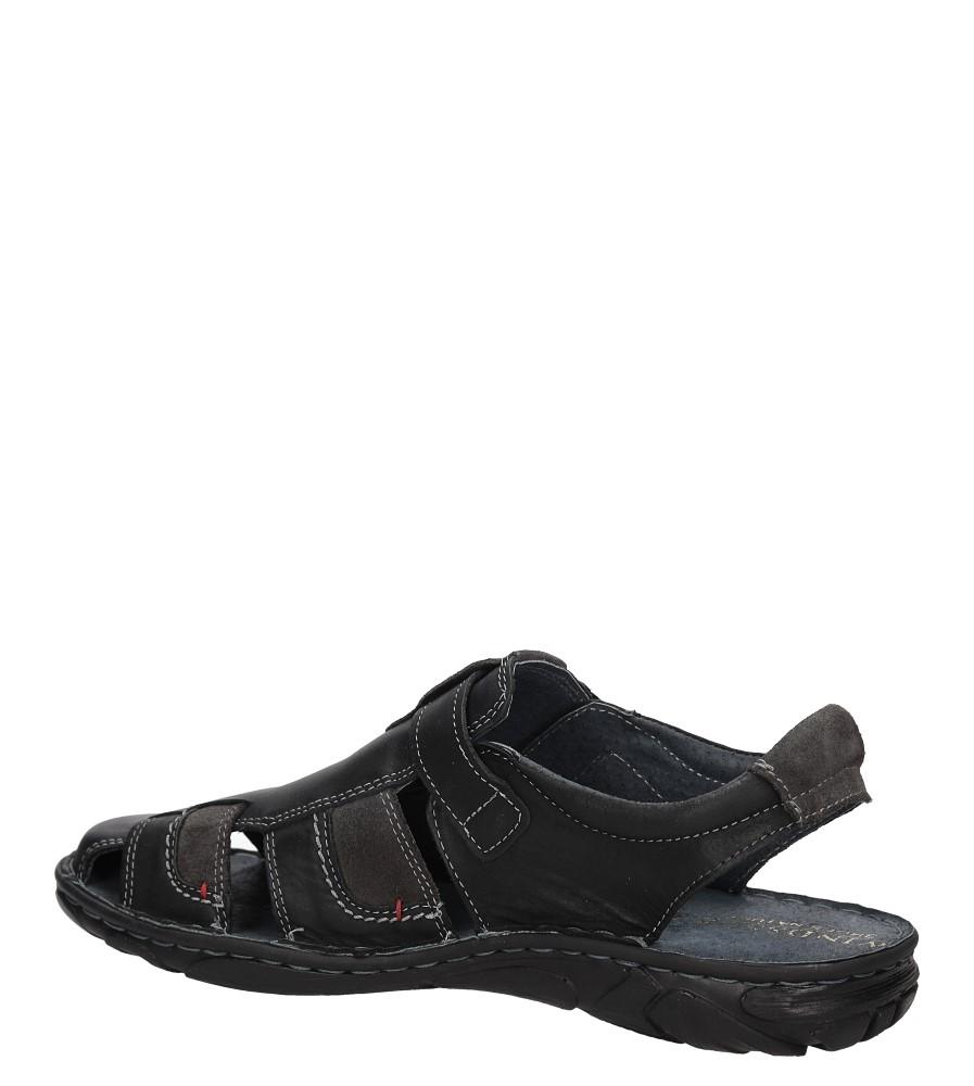 Sandały skórzane Windssor 506 kolor czarny