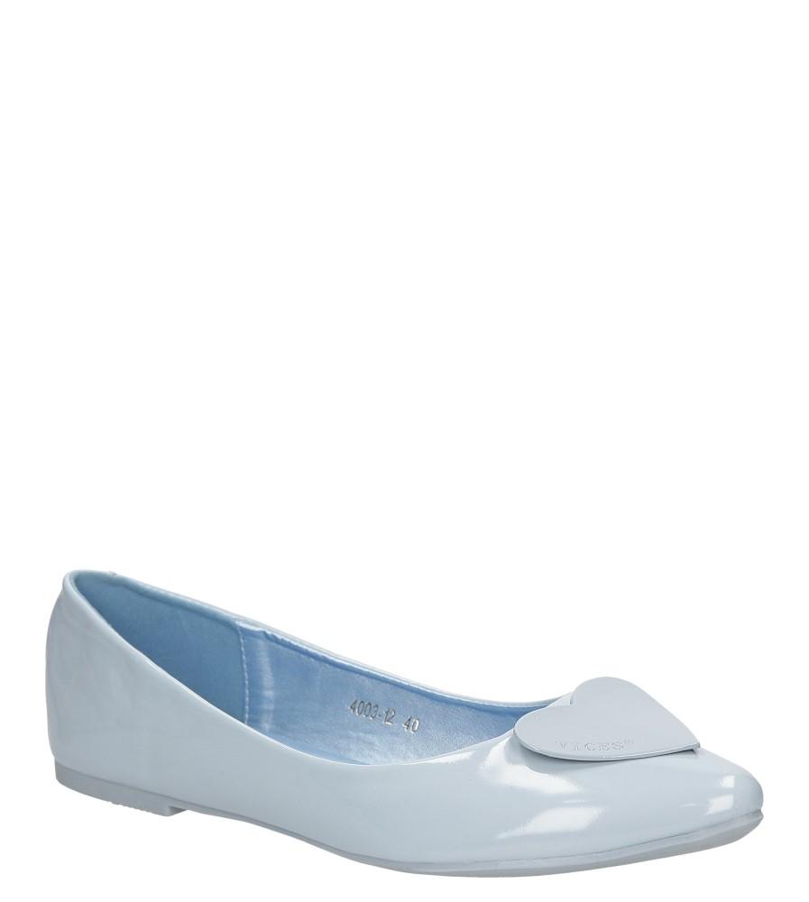 Damskie BALERINY VICES 4003 niebieski;;