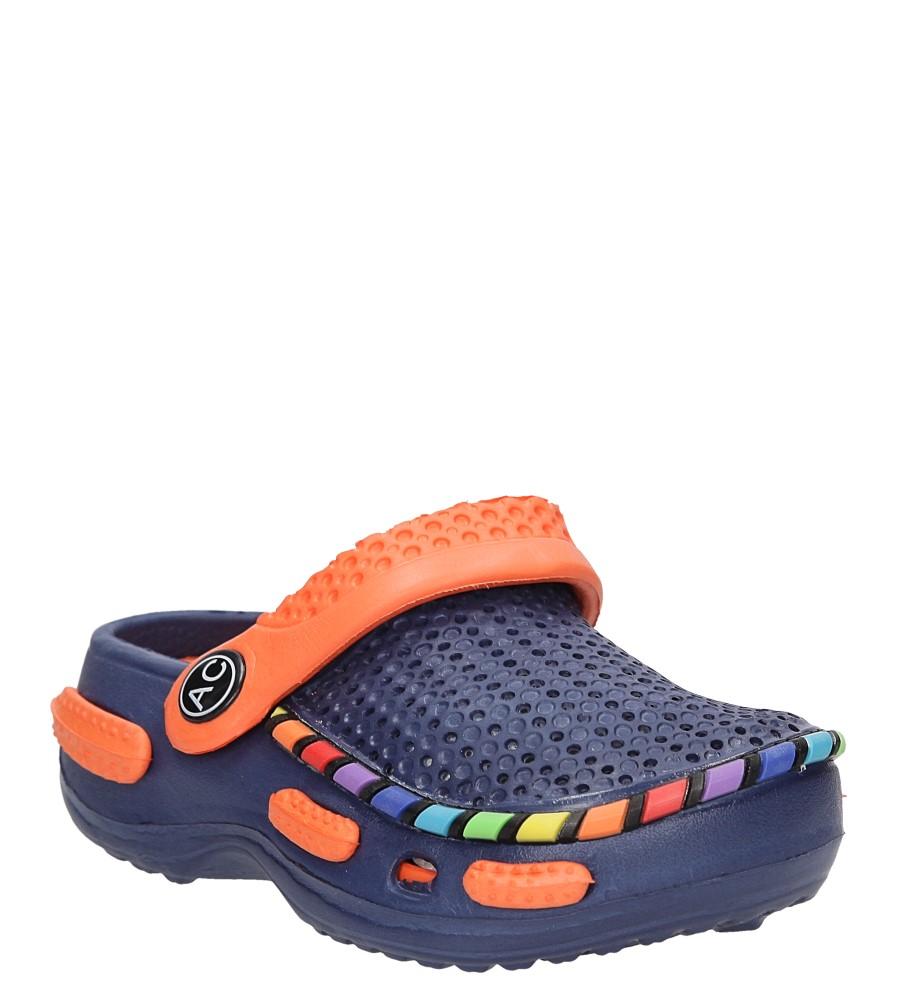 Dziecięce KLAPKI AMERICAN LC-A078003-2 niebieski;pomarańczowy;