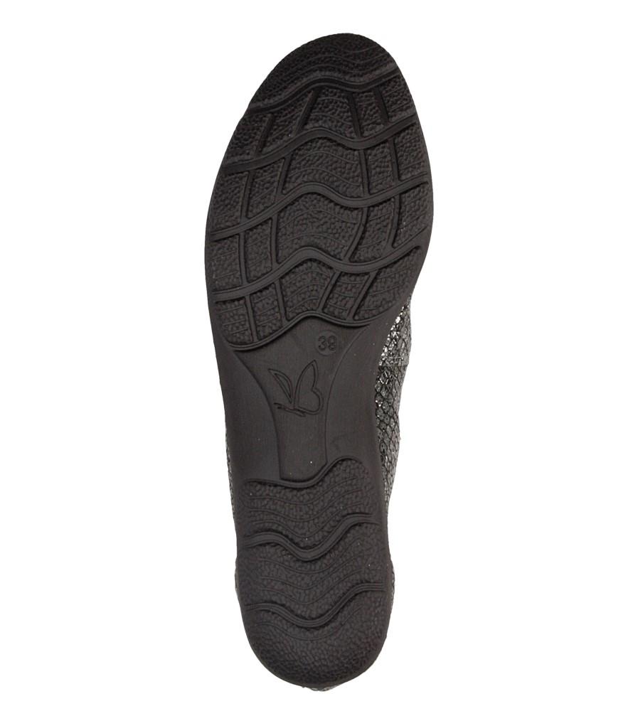 Baleriny czarne skórzane Caprice 9-22150-27 wys_calkowita_buta 8 cm