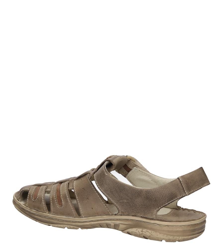 Sandały skórzane Windssor 230 kolor brązowy