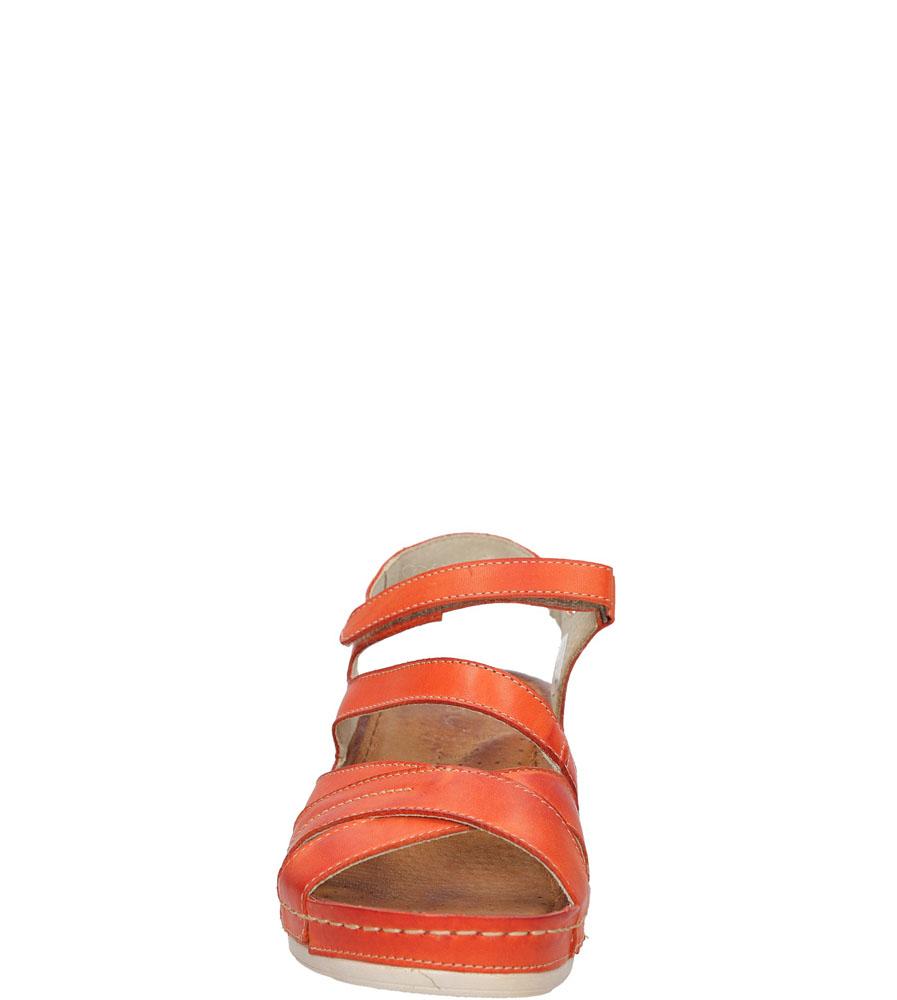 SANDAŁY CASU 0411 kolor pomarańczowy