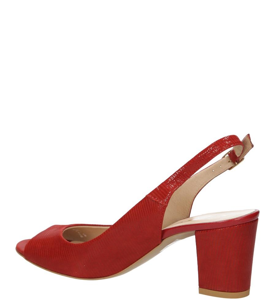 Sandały na słupku Casu 1387 kolor czerwony