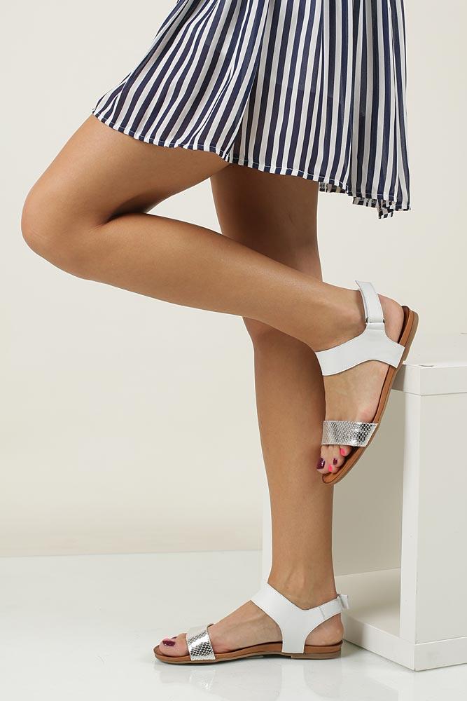 Sandały skórzane Casu 1256 model 1256