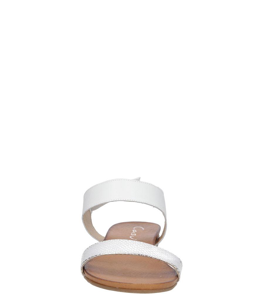 Sandały skórzane Casu 1256 kolor biały, srebrny