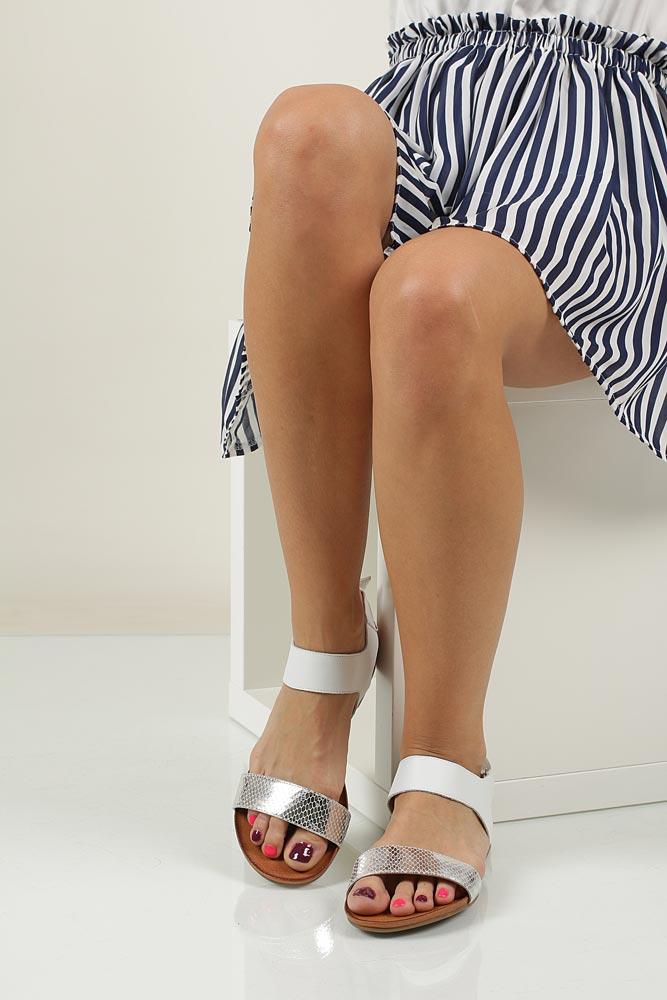 Sandały skórzane Casu 1256 wierzch skóra naturalna - licowa