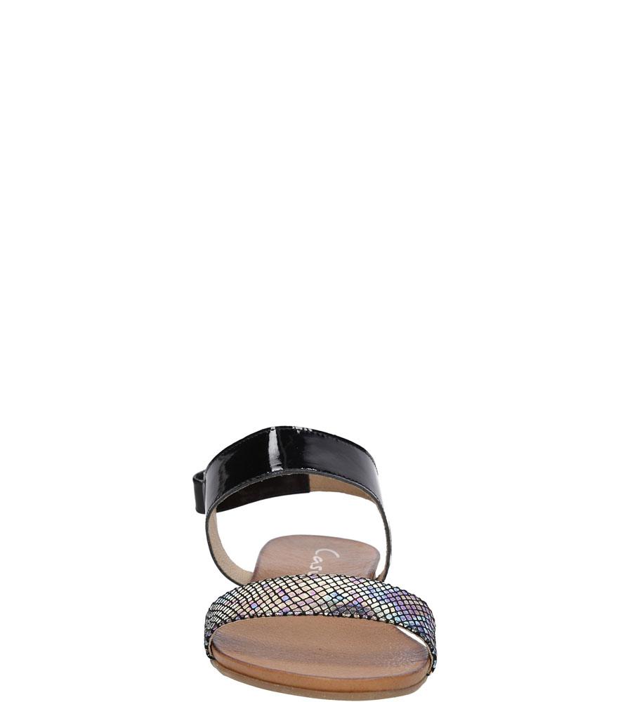 Sandały skórzane Casu 1256 kolor czarny, multi kolor