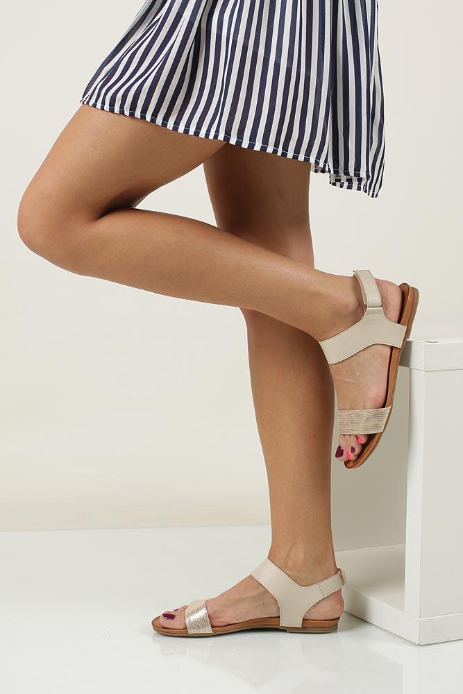Sandały skórzane Casu 1256