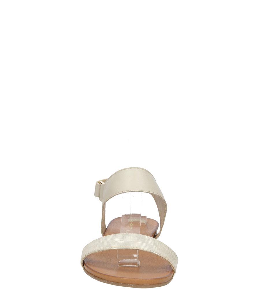 Sandały skórzane Casu 1256 kolor beżowy, złoty